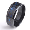 Black Hollow  Wedding Ring