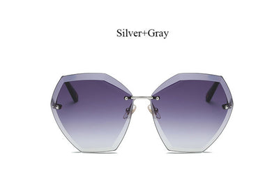 Transparent Rimless Sunglass