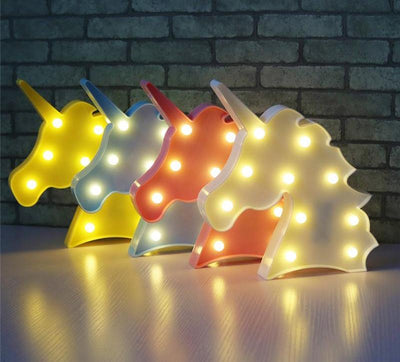Unicorn Head LED Night Light