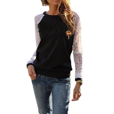 Lace Patchwork Tunic Shirt