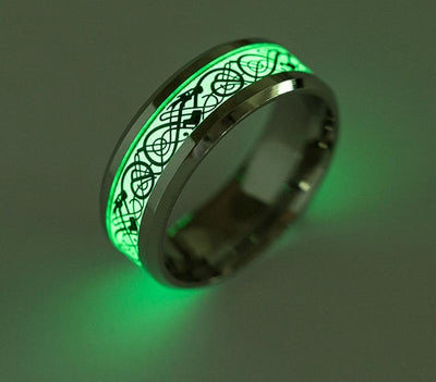 Luminous Gold Silver Dragon Ring