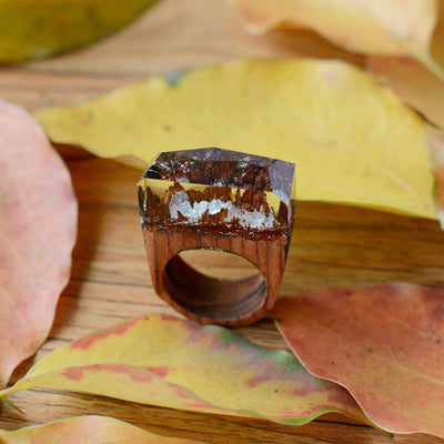 Secret Forest Wood Ring