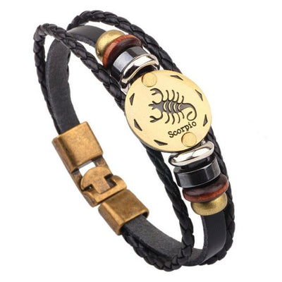 Leather constellations Bracelet
