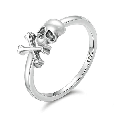 Hyperbole Skeleton Skull Ring