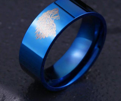 Spectacular Ice Wolf Ring