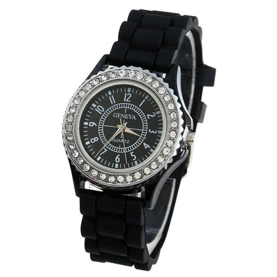 Platinum Silver Crystal wristwatch