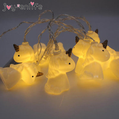 Unicorn Head LED String Night Light