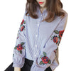 Floral Embroidery Casual Shirt