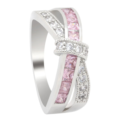 Cancer Awareness Cross Ring