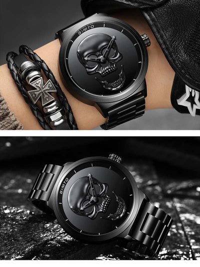 Steel Skull Watch