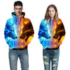 Ice Fire Wolf  3D Sweatshirt