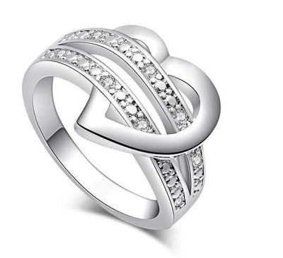 Silver Heart Love Ring