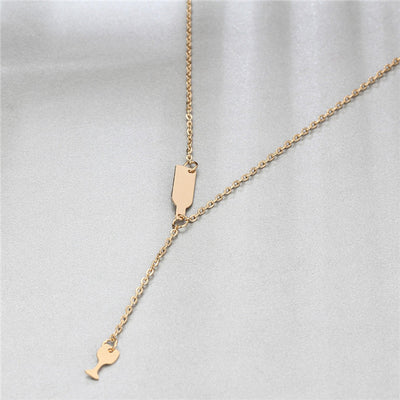 Wine Cup Pendant Chain Necklace
