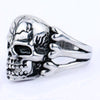 Men's Skull Flower Biker Ring