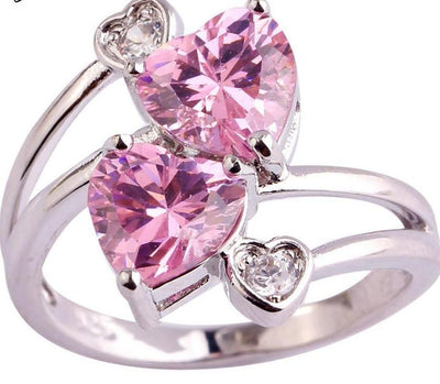 Double Loving Romantic  Ring