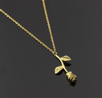 Gorgeous Rose Flower Necklace