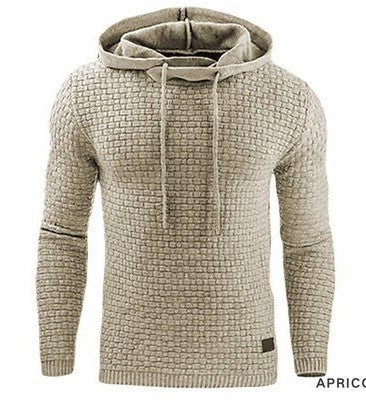 Solid Color Hooded Sweatshirt