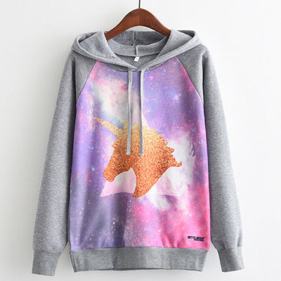 Cartoon Printed Unicorn Sweatshirt