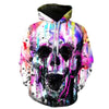 Colorful Paint Skull 3D Hoodie