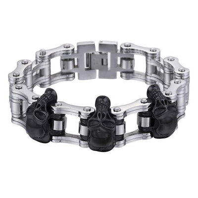 Stainless Steel Biker Wristband