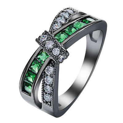 Green Cross Awareness Ring