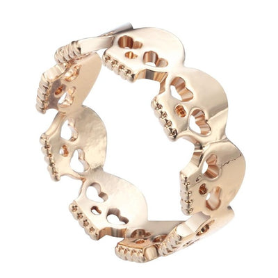 Skull Biker Zinc Alloy Ring