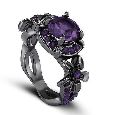 Purple Skull Ring For Women