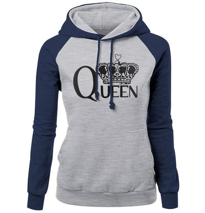 Print QUEEN CROWN Fashion Hoodie