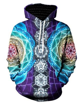 Sublimation Art Print Hoodie