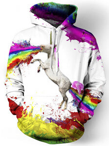 Female Rainbow Unicorn Hoodie