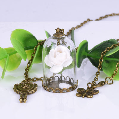 Beauty Rose Dome Necklace