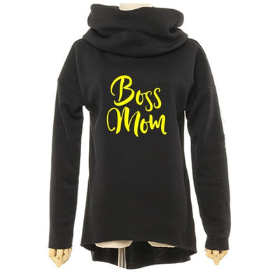 Boss Mom Christmas Winter Hoodie