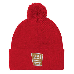 Red Pine Retreat National Forest Marker Pom-Pom Beanie