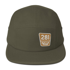 Red Pine Retreat National Forest Marker Camper Five Panel Cap