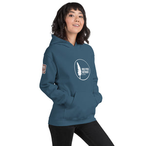 Unisex Red Pine Retreat Hoodie