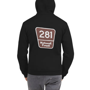 Unisex Red Pine Retreat Zipper Hoodie
