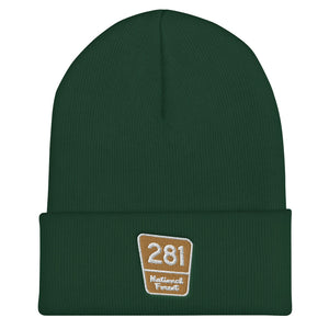 Red Pine Retreat National Forest Marker Cuffed Beanie