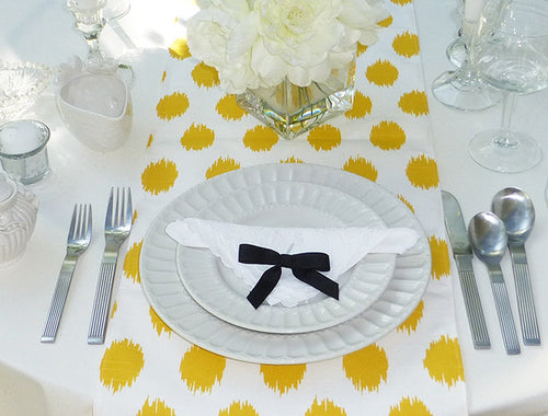 Choose Your Table Runner, Yellow Table Runner   Yellow Wedding Linens    Table Cloth Yellow
