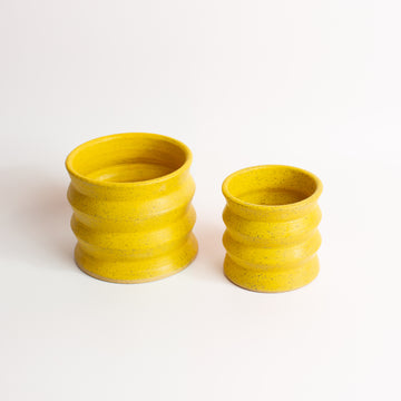 MiMi Likey Zig Zag Planter - Yellow