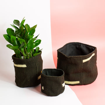 From Marfa Plant Basket - Black