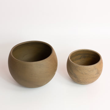 Terra-Cotta Orb Planter *Local Pickup/Delivery Only*