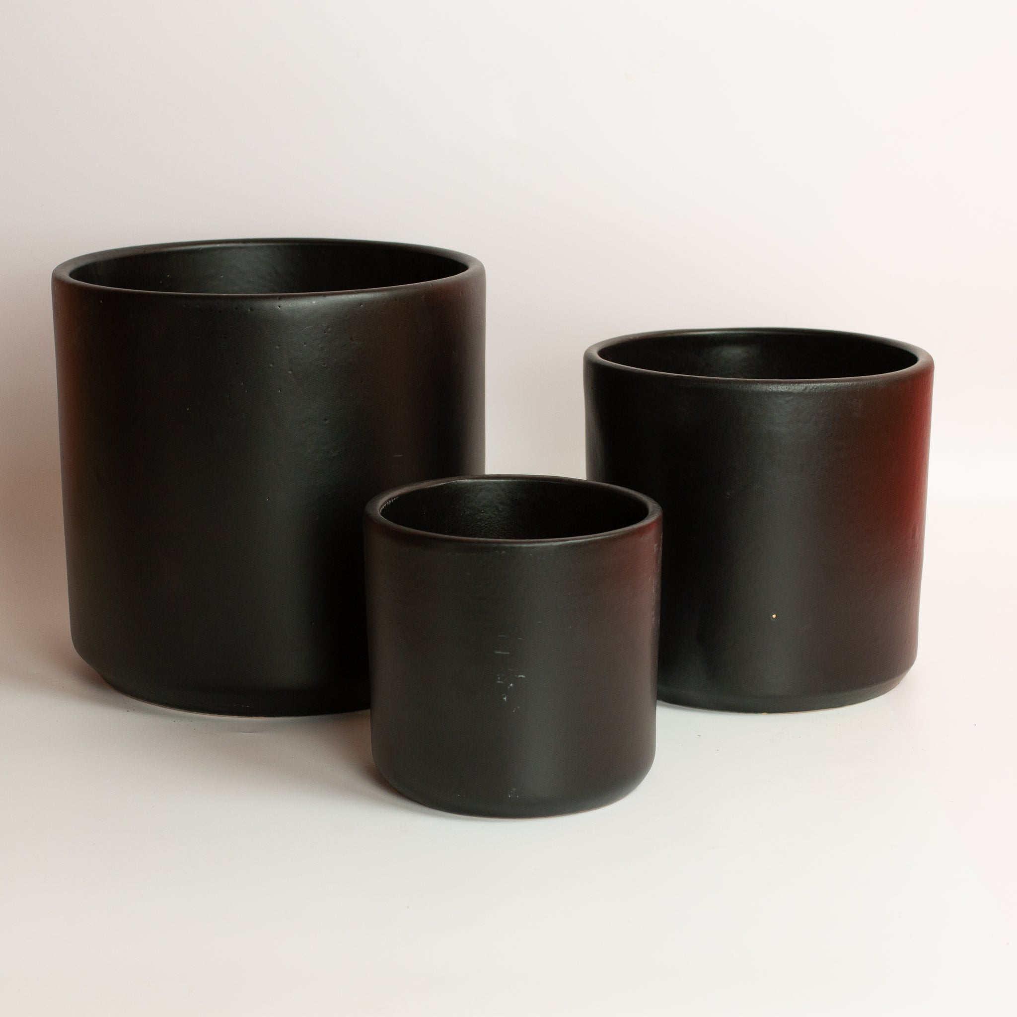 Black Cylinder Planter *Local Pickup Only*