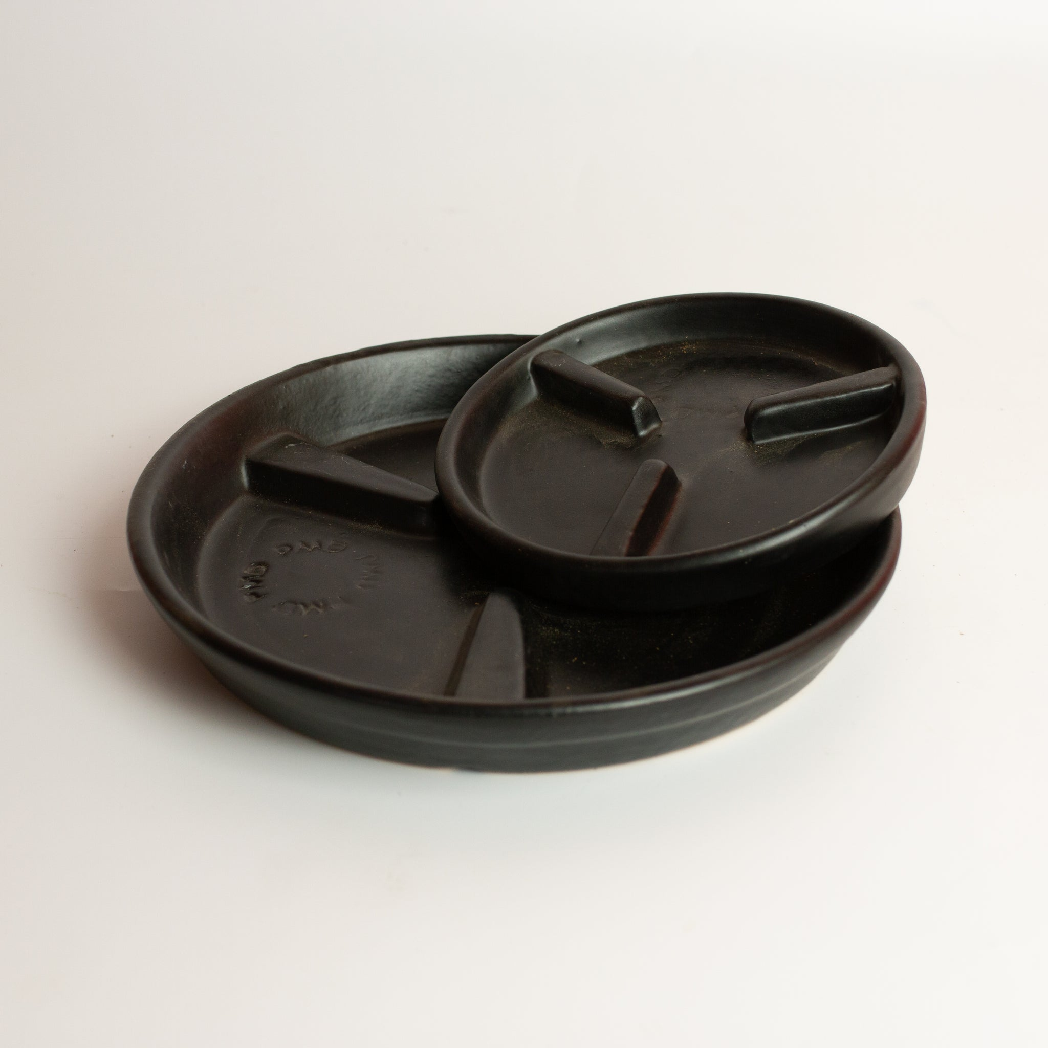 Black Cylinder Saucer *Local pickup/delivery only*
