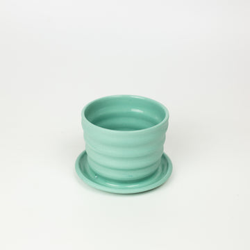 Totally Shapes - Green Mini Planter