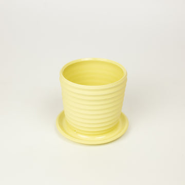 Totally Shapes - Yellow Mini Planter