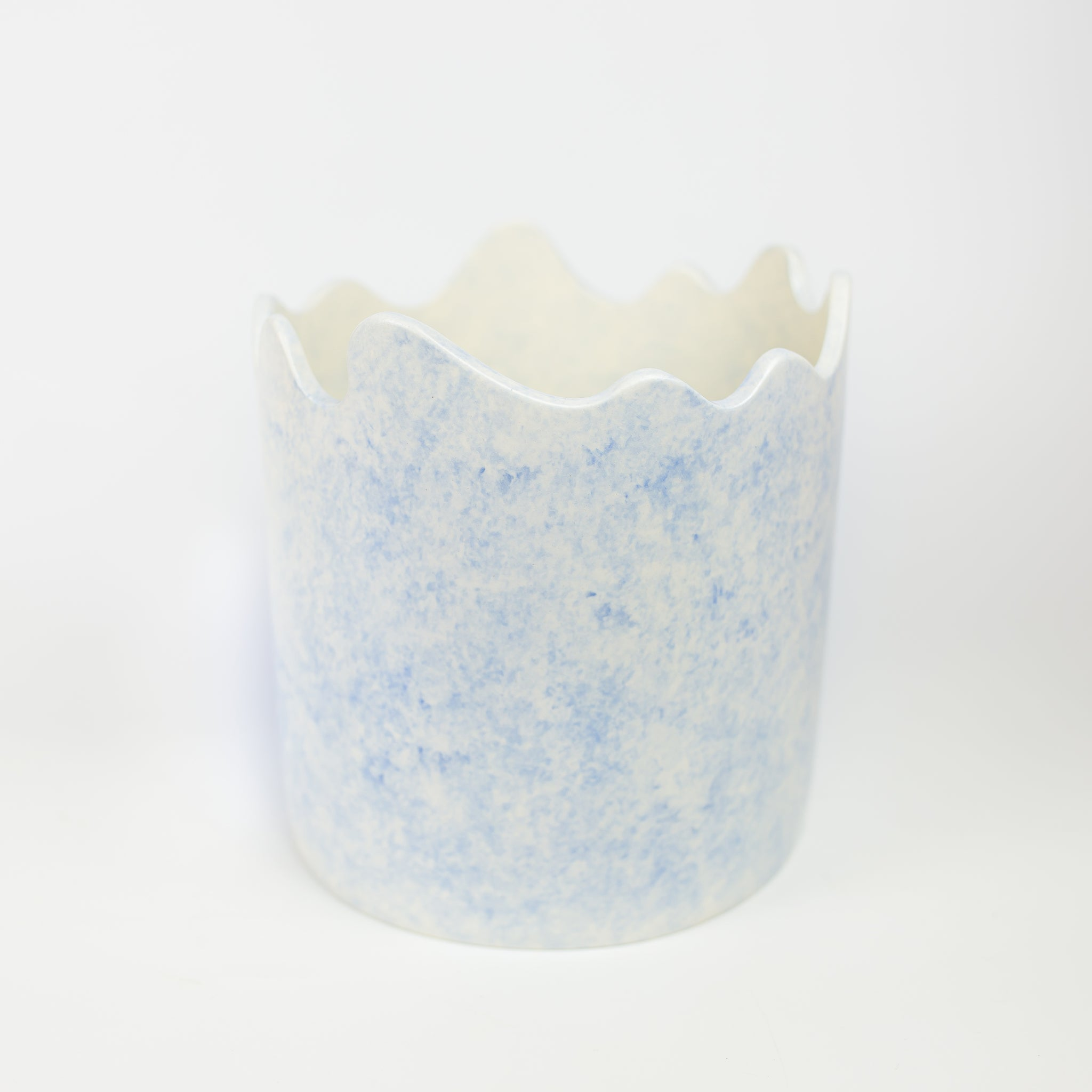 Ümlaut Ceramics - Wavy Blue Planter (Large) *Local Pickup Only*