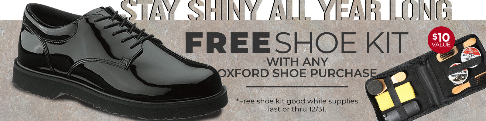 Free Shoe Kit with any Oxford Shoe purchase