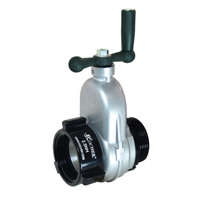 "Kochek 09K Gate Valve, 2-1/2"" Male Outlet X  2-1/2"" Threaded Inlet"