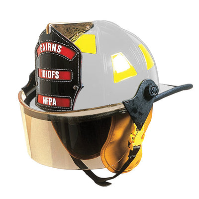 "MSA 1010 Helmet Traditional Style W/4"" Faceshield, Standard Headliner"