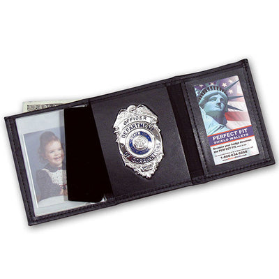 "Perfect Fit Trifold Wallet With Single Id Window, ID 2 1/2"" X 4"""